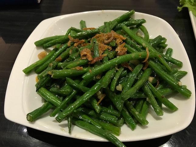 Garlic Fried String Beans