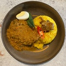 Braised Chicken Rendang Drumstick, Turmeric Yellow Rice ($18)