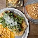 Mushroom Flatbread, Nut Butter Toast & Scallion Scone ($35)