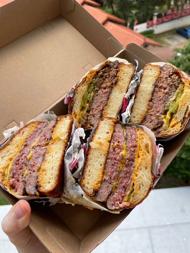 Big Mama ($21) & Cheese Burger ($17)