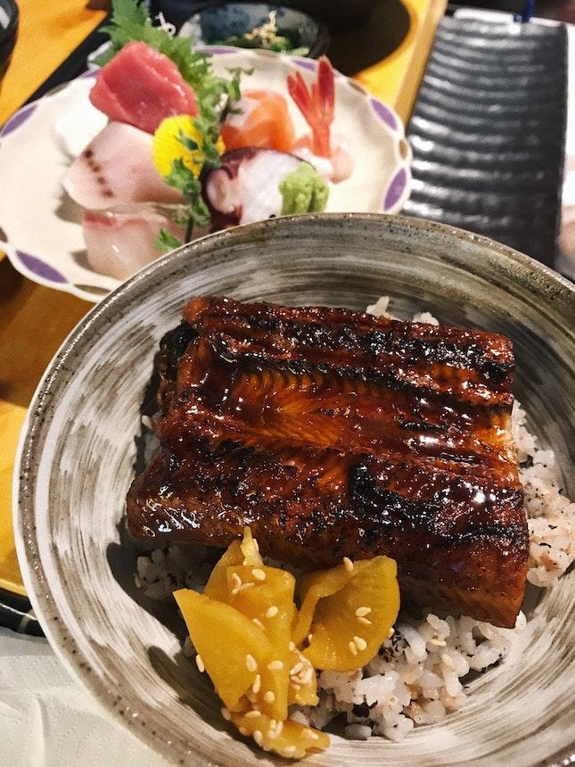 Sashimi Unajyu ($22.80)