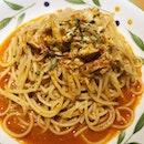 Chili Crab Pasta ($8.90)