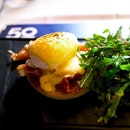 A close look at the Eggs Benedict.