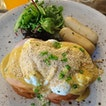Salted Egg Yolk Egg Benedict