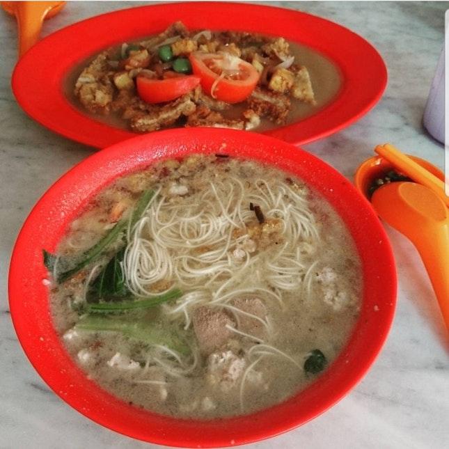 Mee Sua And Hainanese Pork Chop