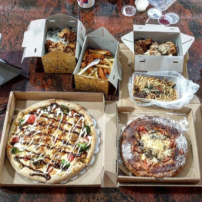 Korean Pizzas, Pasta And Fried Chicken