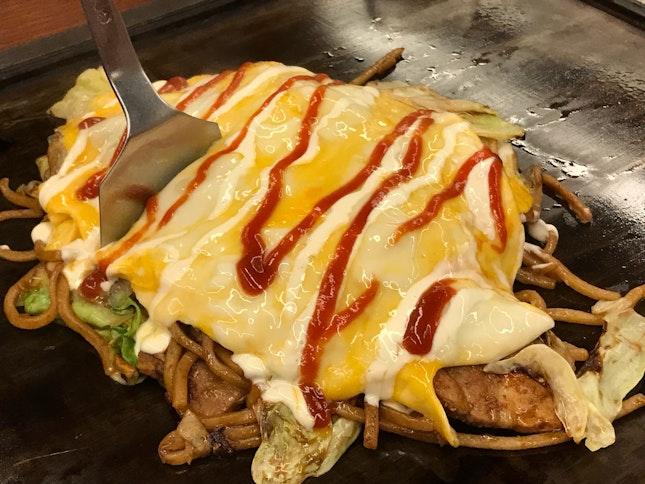 Omelette Yakisoba Large ($16)