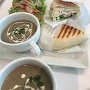 Chicken Panini & Mushroom Soup