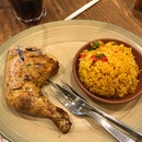 1/4 Chicken With Spicy Rice