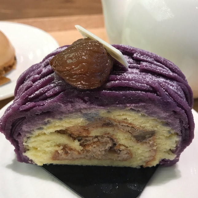 Sweet Purple Potato And Chestnut Roll ($7.90)