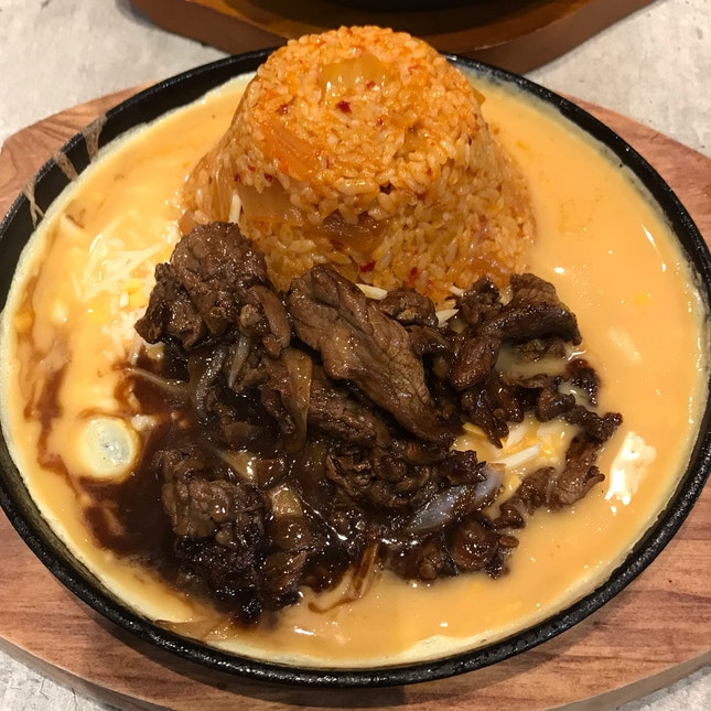 Volcano Fried Rice With Beef