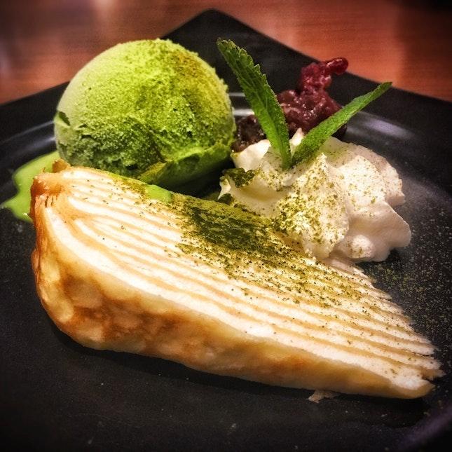 Hokkaido Millecrepe With Ice Cream SGD 5.90++.