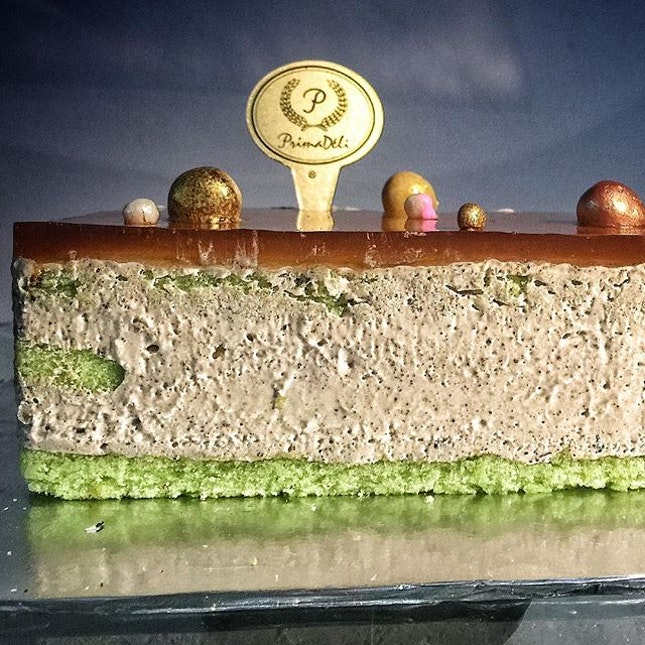 Earl Grey Pandan Cake from @primadelisg .