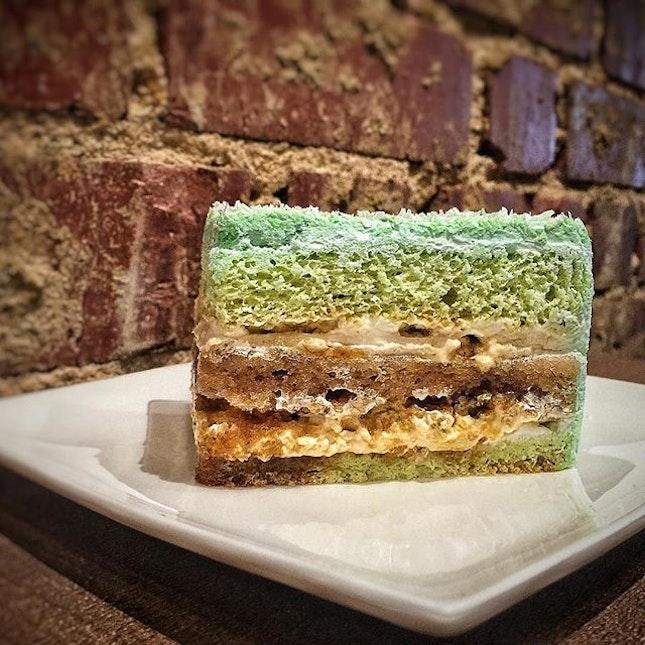🍰 Ondeh Ondeh Cake SGD 6.90 Nett 🍰 An interesting flavor.