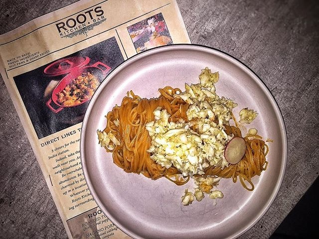 Ocean Crab Pasta SGD 18 Nett from @rootskitchenbar 🦀 This place is really worth a try!