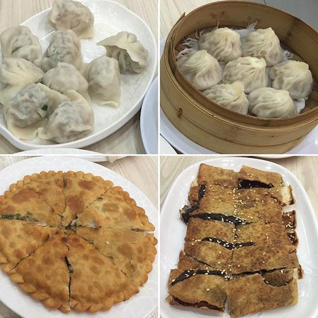 京华 not 精华。Overload of flour and pork presented in many ways.
