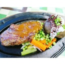 Jack's Place Ribeye Steak Set Lunch.