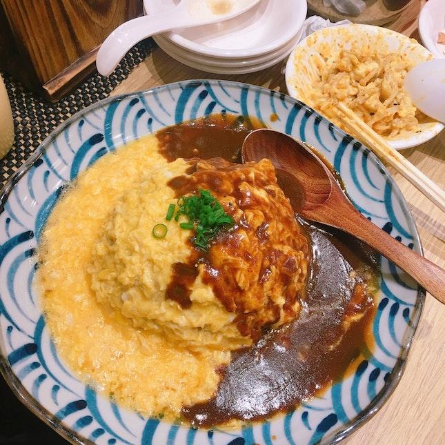 Clarke Quay // Omelette Rice