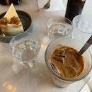 Carrot Cake, Iced Latte (w soy milk) and Sea Salt Chocolate