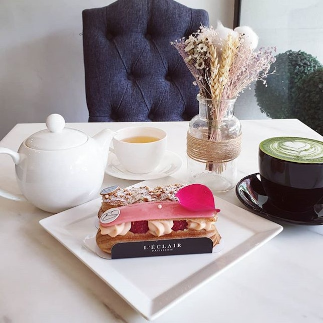 Recharge with a relaxing afternoon tea of pretty eclairs.