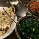 Garlic Naan, Palak Paneer & Chicken Tikka Masala