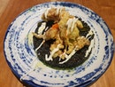 Squid Ink Fried Rice With Soft Shell Crab