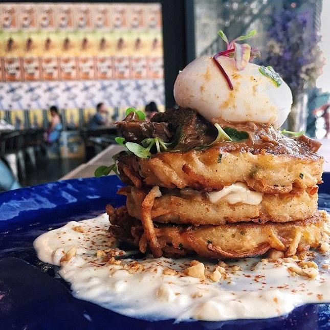 Beef Cheek on Potato Pancakes ($22)
