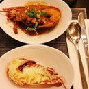 Two different flavours of lobster served.
