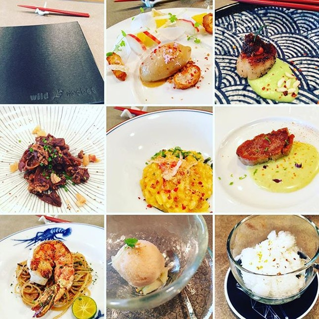 Wild Rocket Omakase Lunch ($80-$110) This customised Omakase served by Chef Willin himself (whom I had to privilege to meet and speak with) is inspired by local hawker fare but prepared in an unexpected and restaurant quality dishes that leaves you wanting more.