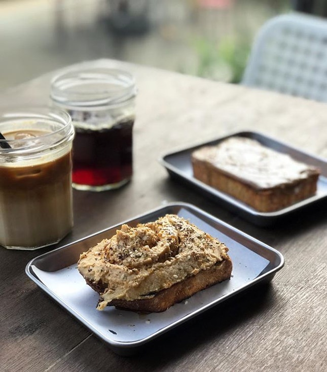 Their sourdough could be enjoyed with a variety of spreads, from peanut butter, honey or that generous serving of hummus on ours.