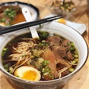We find much pleasure in their bowl of hot, flavourful beef ramen that's distinctively Taiwanese.