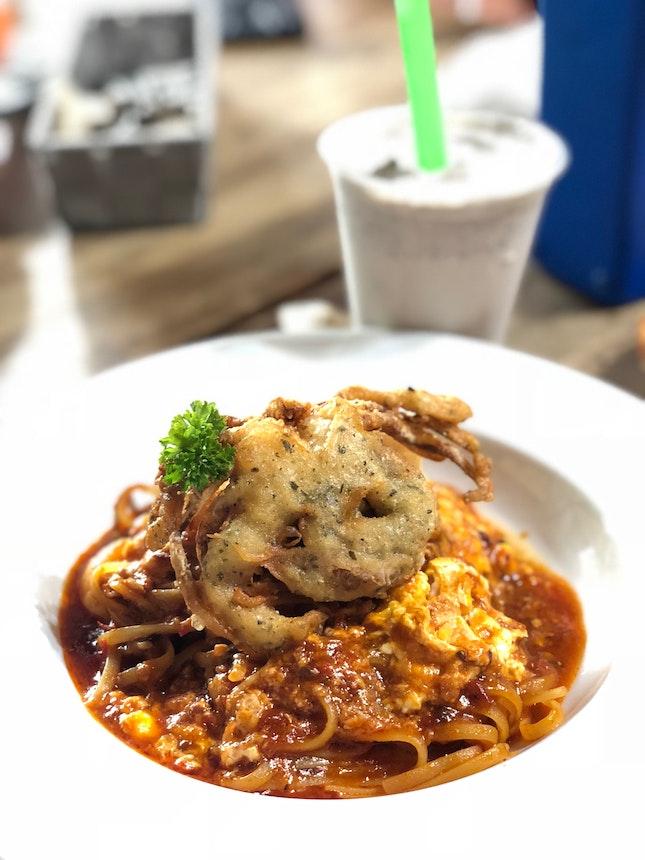 Chilli Crabby Pasta