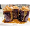 Towers of stuffed eggplant that you can't find anywhere else🍆🍆🍆 #food #delicious #yummy #dimsum #dimdimsum