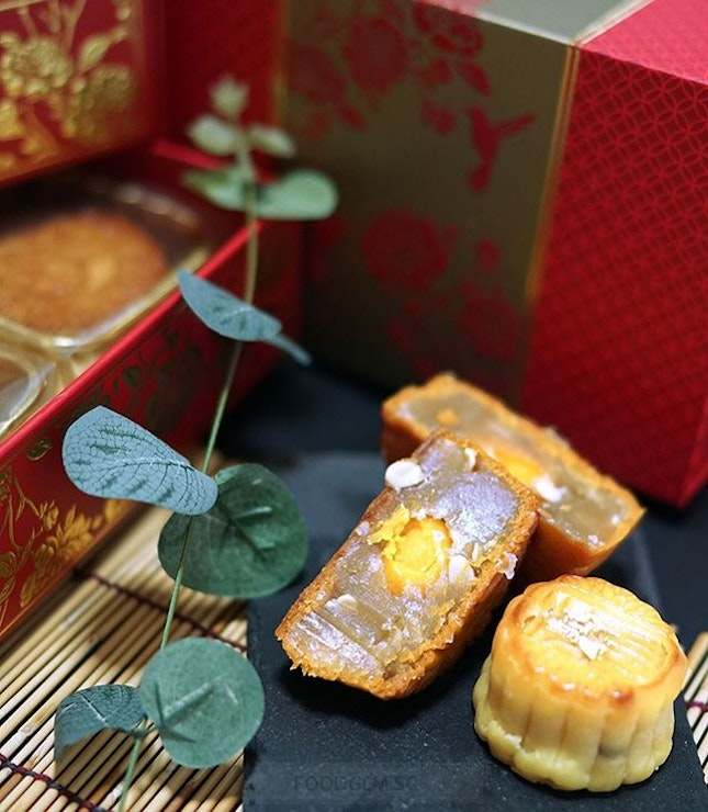 Salted egg lovers will be delighted with Xin's Signature Mini Egg Custard with Yolk Mooncake!