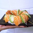 Fancy for a sushi donut that's bigger than your palm?
