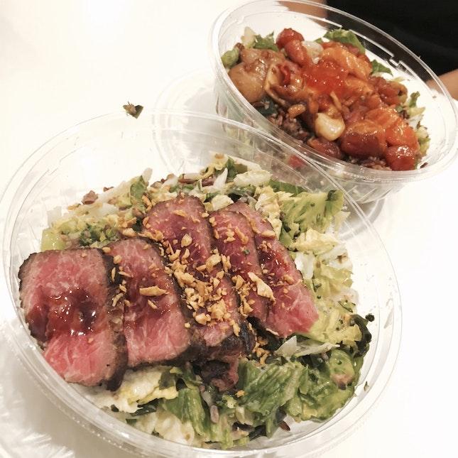 Steak chopped salad, $14(?)