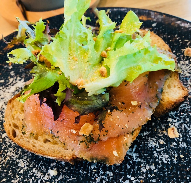 Dill Smoked Salmon Toast