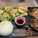 Wagyu Hamburg With Sirloin Steak Set