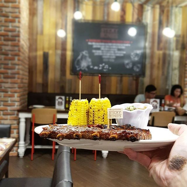 ❤❤❤❤❤❤❤ * Advanced birthday celebration for @cliffton_jt * Morganfield's Spicy Asian BBQ Sticky Bones $27.90 (Half-Slab) Our Signature BBQ sauce mixed with Oriental Spices & Chili Flakes.