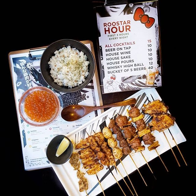Late night craving😋😋😋 * Sze Chuan Style Yakitori * Only @chikinbar * Have you tried it yet?