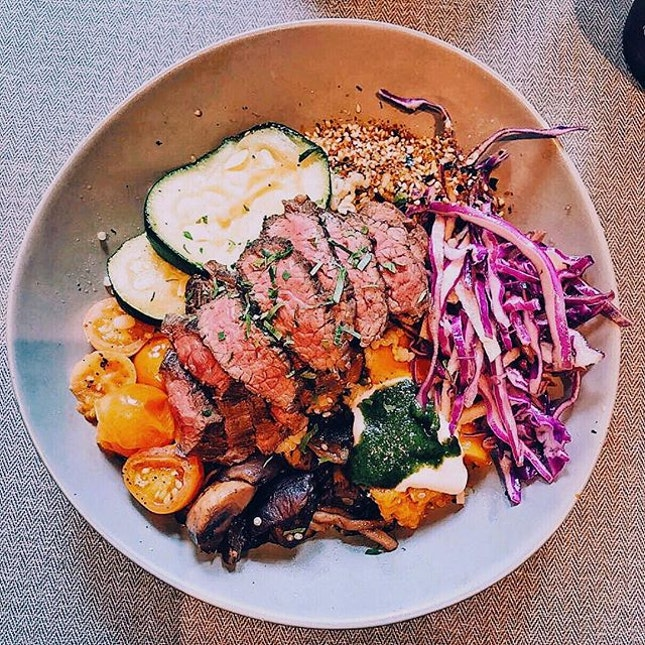 [Populus Coffee & Food Co.] Wagyu Beef Grains Bowl, S$24 + Extra Beef, S$7.