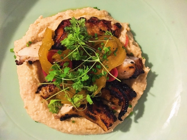 Char-grilled Octopus With Hummus