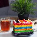 Old school rainbow cake.