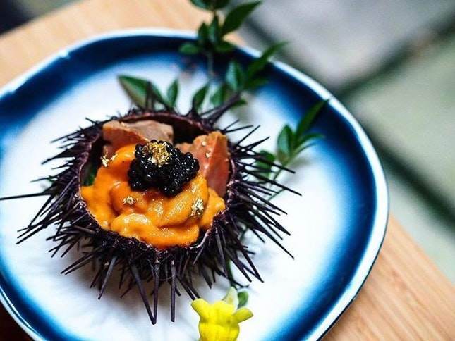 Ankimo + Uni + Caviar = 💕♥️ So darn good!