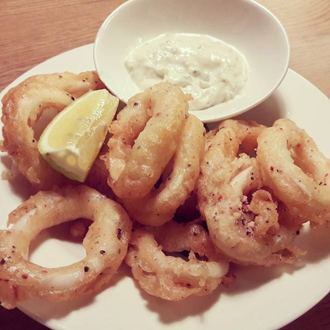 Feeling guilty thinking about deep fried calamari that is crisp yet chewy...