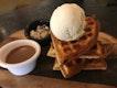 Waffle With Marble Creamery Vanillia Ice Cream