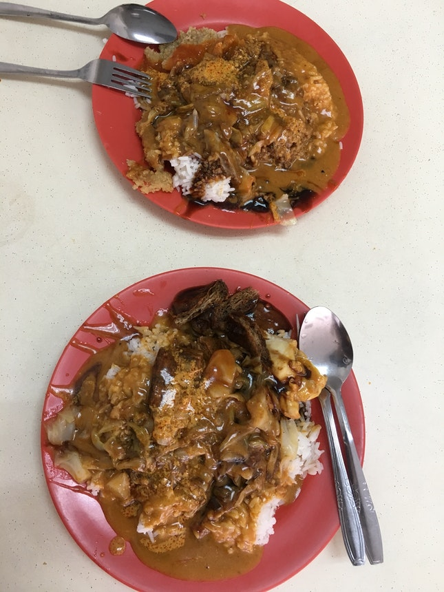 Curry Rice With Dishes