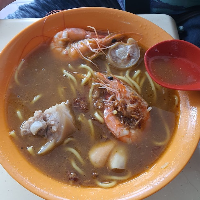 Prawn Noodles With Pigs' Tail