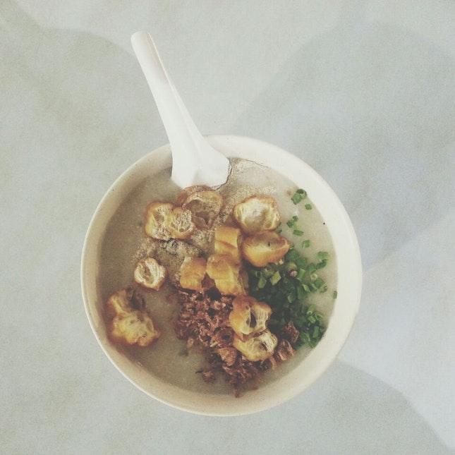 皮蛋瘦肉花生粥 - Century egg lean meat peanut porridge ($3)