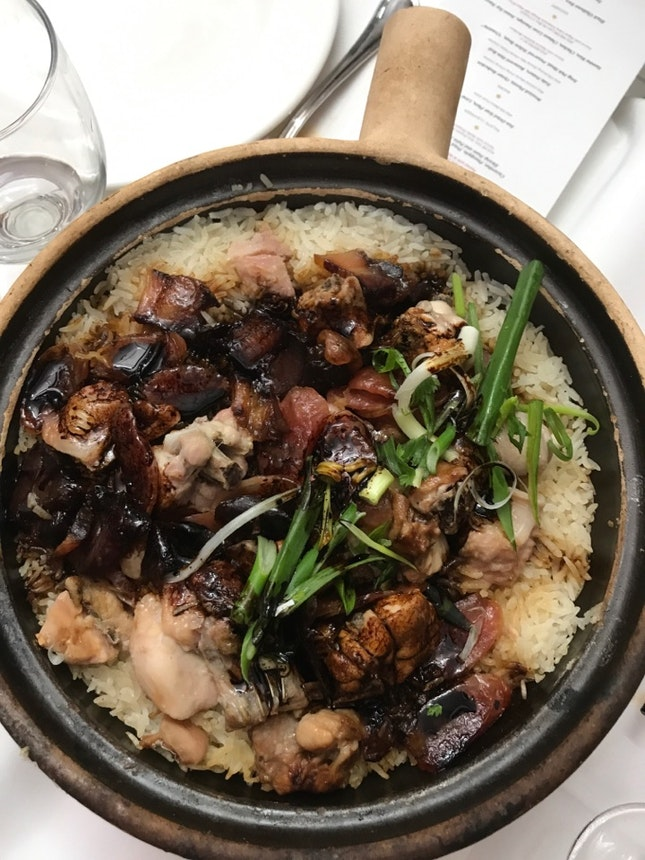 Jasmine Rice, Chicken, Chinese Liver Sausage, Sweet Soy Sauce